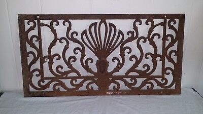 Wonderful Antique Architectural Wrought Iron Window Grate Heat Register Cover
