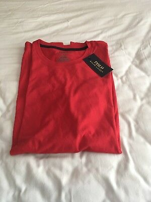 Polo Ralph Lauren Mens Sleep Lounge Shirt Red Large New