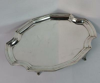 1911 Solid Silver Tray on Four Feet