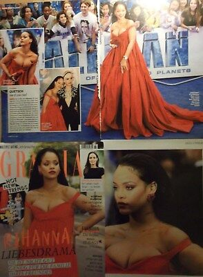 4 german clipping RIHANNA SINGER N. SHIRTLESS BOYS BOY RED CARPET BOYS BOY
