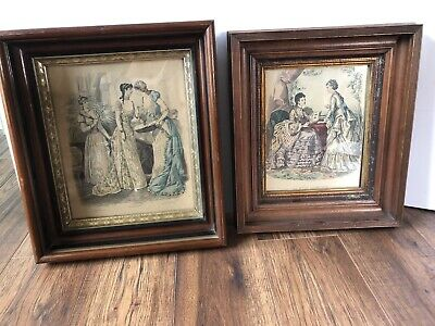 Vtg Antique Wood Gold Gilt Shadow Box Picture Frame Victorian