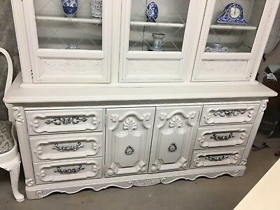 French Breakfront china cabinet circa 1960