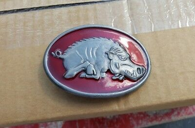 Vintage Arkansas Razorbacks Belt Buckle Rare Nice