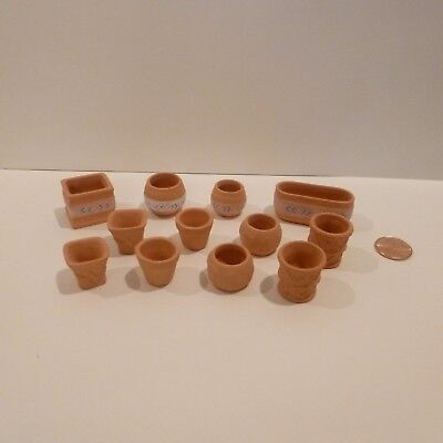SET OF 12 MINIATURE POTS all different shapes and sizes