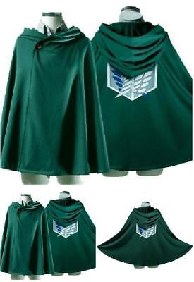 Attack on Titan Anime Shingeki no Kyojin Cloak Cape Clothes Cosplay Costume