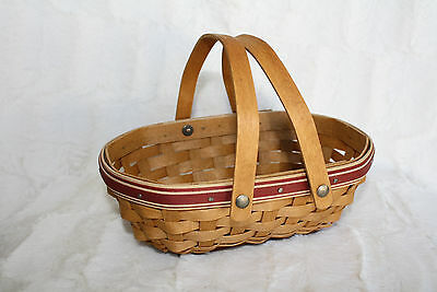 Excellent Condition Longaberger 2006 Tree Trimming Nature's Berry Basket RED