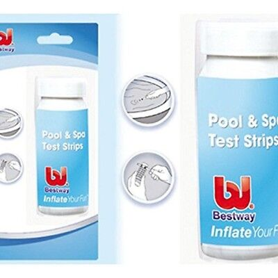 Bestway 3 In 1 Pool and Lazy Spa Lay z Spa Test Strips 50 strips Chlorine PH