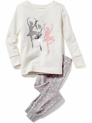 NWT Girls Old Navy Ballerina Pajamas PJs 2 piece size 2T 4T 12 18 24 MONTHS