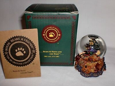 Boyds Bears 2001 Tabitha's Ride Batty Flight 1E Mini Waterball Snowglobe NIB