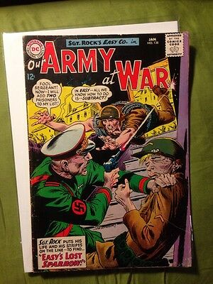 Our Army at War #138 January 1964 VG 1st Sparrow