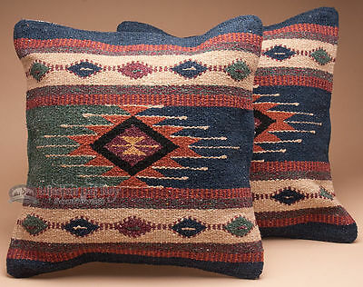 Pair Old Style Southwest Pillow Covers 18x18 -Mesa