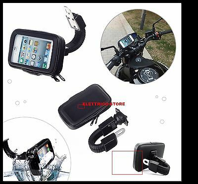 Porta Cellulare Supporto Da Moto Scooter Impermeabile Waterproof Iphone Android