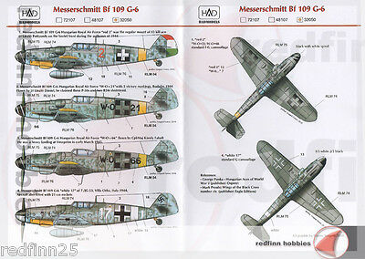 HAD Models Bf 109G-6 1/32 decals