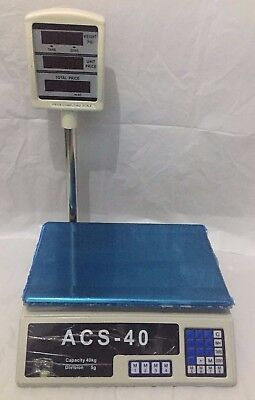40KG Digital Price Computing Retail Weight Scale Shop Commercial Rechargeable