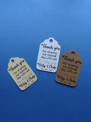 20 Personalized Wedding Favor Tags Thank You For Sharing Our Special