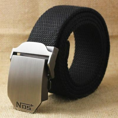 Men's Canvas Casual High Quality Luxury Automatic Buckle Belts