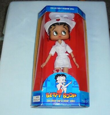 Betty Boop Collectible Fashion Nurse Doll Stand Poseable Body Precious Kids 2005