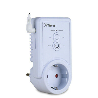 GSM Power Outlet Plug Socket Temperature Sensor Intelligent SMS Command Control