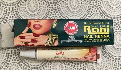 6 x RANI NAIL Henna Paste Red Color 6g Each Made In Saudia