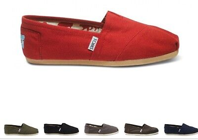 Toms Womens Classic Canvas Black/Blue/Red/Gray Free Ship