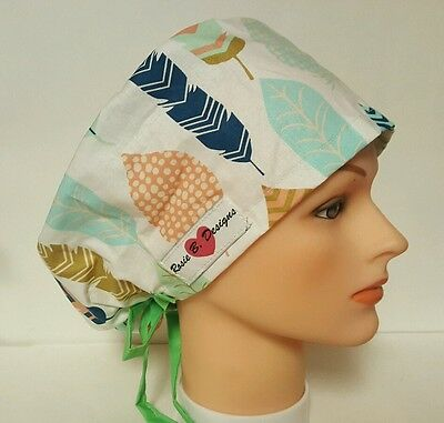 Feathers   / Hat Pixie / Scrub / Medical Chemo / Cap