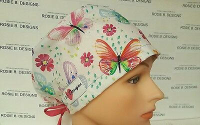 Monarch  Butterflies /pixie  Hat/surgical / Scrub /chemo  Hat