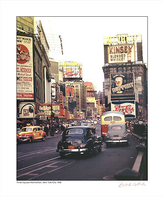 Times Square, New York City, 1948 by Merlis Collection Transportation Art Print