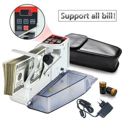 V40 Portable Mini Cash Count Money Currency Counter Counting All Bill EU SS6