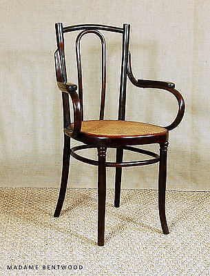 "Fauteuil bistrot viennois N°56 MUNDUS 1910 ca cannage ""extra fin"""
