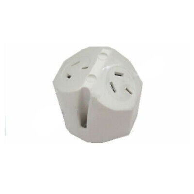 Double Dual Surface Sockets Plug Base Electrical Outlets Fan Base BRAND NEW