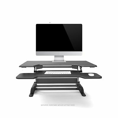 Logix Gear 36 Height Adjustable Standing Desk | Black 6 Level Converter | Go ...