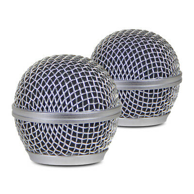 2pcs Silver Microphone Ball Grill Head Mesh Replacemen for Shure Sm 58 Beta 58