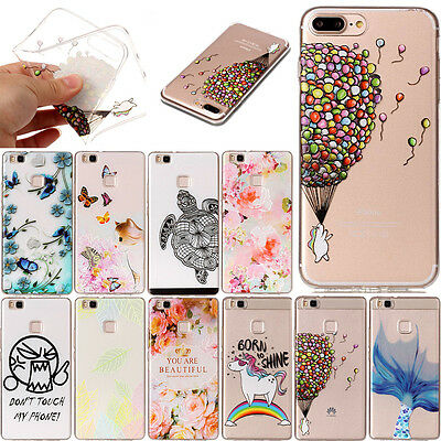 Fashion Rubber Soft TPU Back Case Ultra-thin Silicone Cover For Huawei Samsung