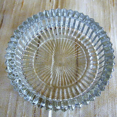 Vintage Clear Pressed Glass Pin Dish