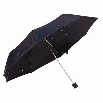 New Mini Umbrella For Men & Women Super Mini Compact Folding Handbag Black Uk