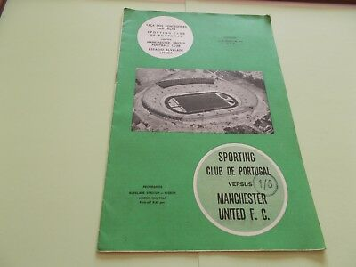 1963-64 Sporting club Portugal v Manchester United ECWC