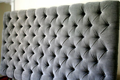 Top Quality  Luxury Colchester  Bed Headboard In Chenille In Tall 30""