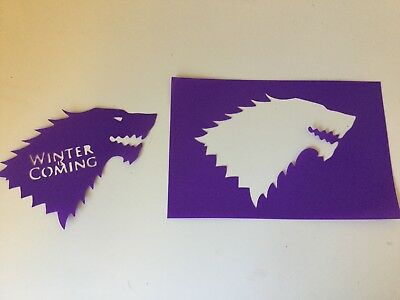 Stencil Stark Game of Thrones  Winter is Coming plastic