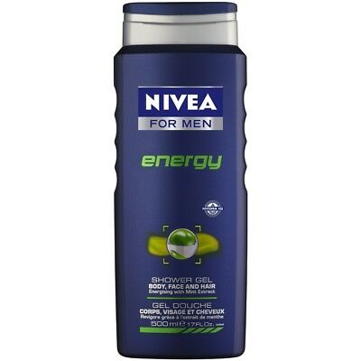 Nivea For Men Shower Gel Energy 500ML  leaving you feeling refreshed, energised