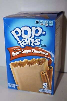 USA Kellogg's Pop Tarts Frosted BROWN SUGAR CINNAMON (8 toaster pastries)