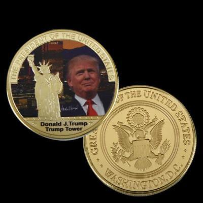 ✯ Donald Trump ✯ Us Silver Eagle ✯ Great Novelty Gift ✯ Secure Capsule ✯