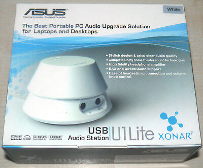 Asus Xonar U1 Lite USB Soundcard (White) - New - UK Stock
