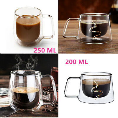 Nespresso Coffee Mug Espresso Tea Cup Thermal Glass Double Wall Lungo Mugs Hot
