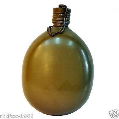 Original Russian army flask Without cover Volume: 0,8 l Aluminum. USSR Russia
