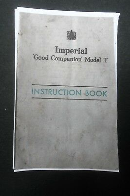 Typewriter Instruction Manual Imperial Good Companion Model T photostat copy