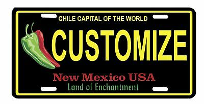 New Mexico Chile Vanity High Gloss License Plate Customize New Style Chili