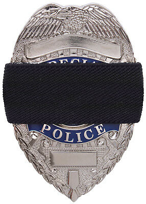 Police Fire EMS Sheriff Badge Mourning Band 2 Pack Black Memorial Bands 1005
