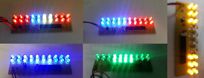 5pcs LED Array Board 20 LED Assembled PCB Strobe Flash Light Effect 9V Battery
