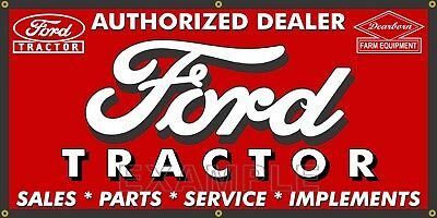 Ford Tractor Dearborn Equipment Dealer Old Sign Remake Banner Shop Art 2' X 4'