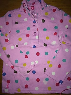 JOULES New Cowdray Sweatshirt - Soft Pink Spotty Age 6